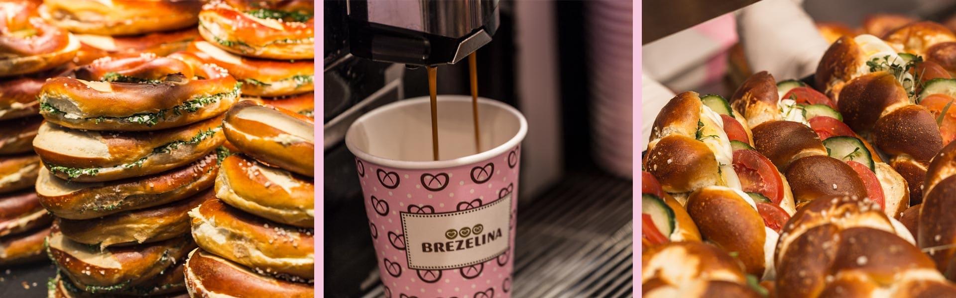 Brezelina München am Stachus und Marienplatz Leckere Brezn, Zöpfe, Croissants und Pürees dazu Kaffee und Kaltgetränke